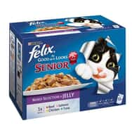 Felix As Good As It Looks Pouch Senior Multipack 12x100g
