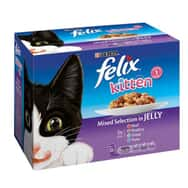 Felix Kitten Mixed in Jelly Pouch Multipack 12x100g