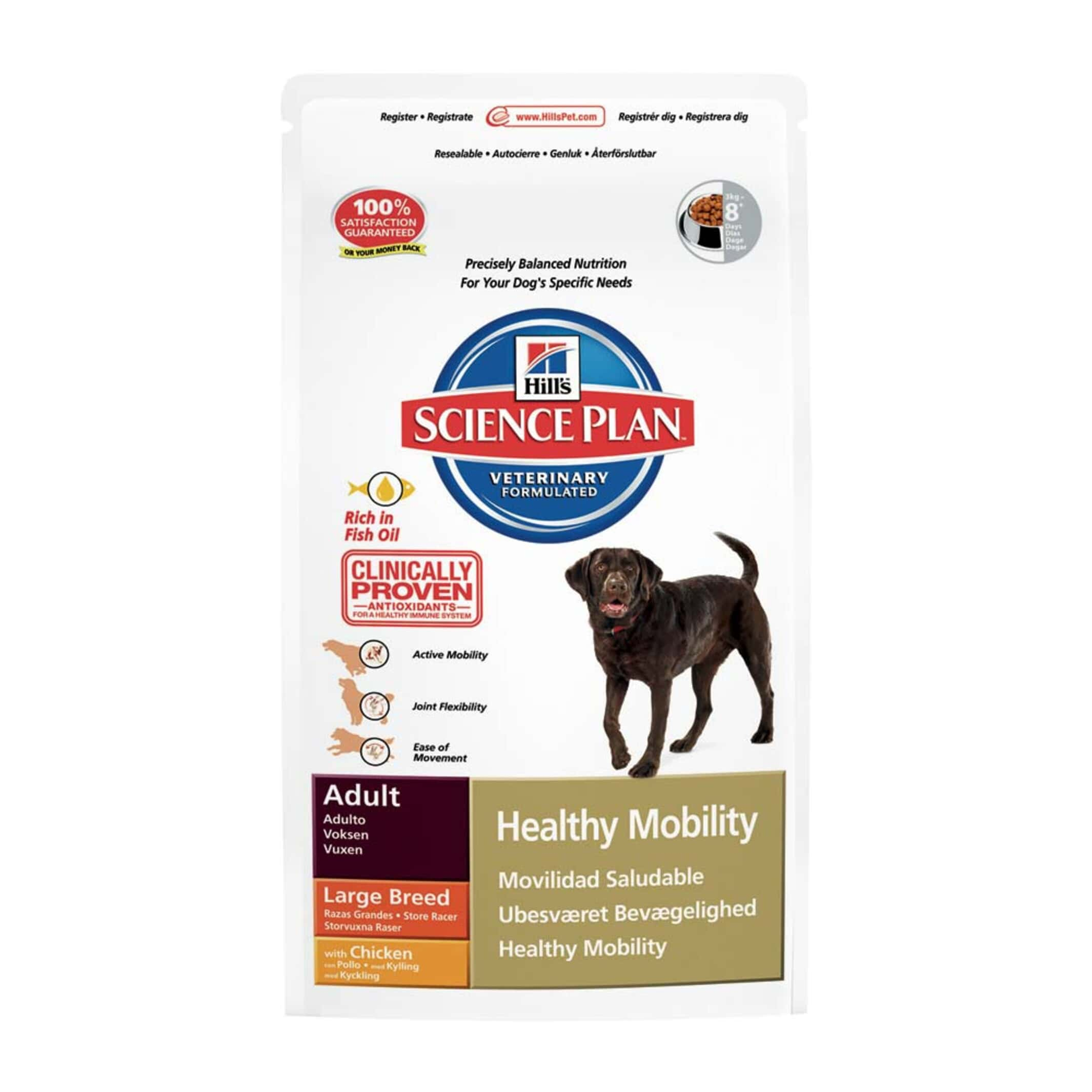 Hill S Science Plan Canine Adult Healthy Mobility Large Breed Chicken 12kg