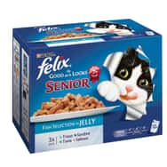 Felix As Good As It Looks Pouch Senior Fish Multipack 12x100g