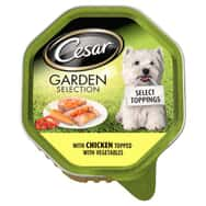Cesar Dog Garden Selection Tray with Chicken and Veg 150g