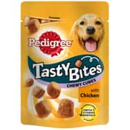 Pedigree Tasty Bites Chewy Cubes With Chicken 130g