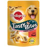 Pedigree Tasty Bites Chewy Slices With Beef 155g