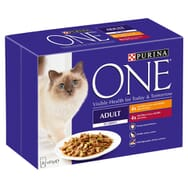 Purina ONE Chicken and Beef Mini Fillets in Gravy 8x85g