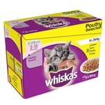 Whiskas Pouch Kitten Poultry Selection 12x100g