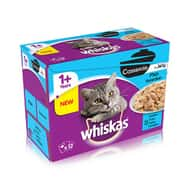 Whiskas Cat Pouches Casserole Fish Selection in Jelly 12x85g