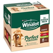 Winalot Perfect Portions Beef, Chicken and Lamb in Gravy Multipack 24x100g