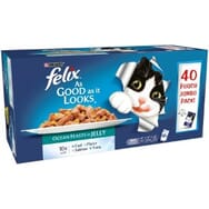 Felix As Good As It Looks Ocean Feasts in Jelly 40x100g