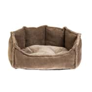Rufus & Rosie Brown Deluxe Dog Bed Large